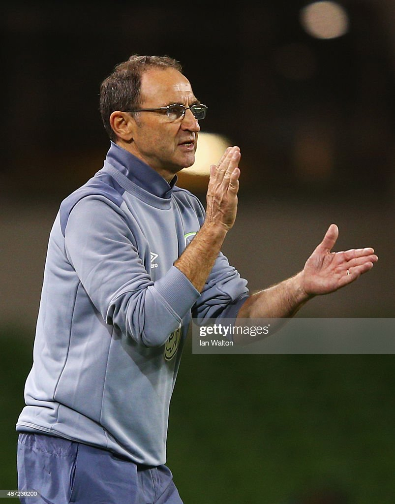 Martin O'Neill manager of the Republic of Ireland applauds during the UEFA EURO 2016 Group D qualifying match between Republic of Ireland and Georgia at Aviva Stadium on September 7, 2015 in Dublin, Ireland.