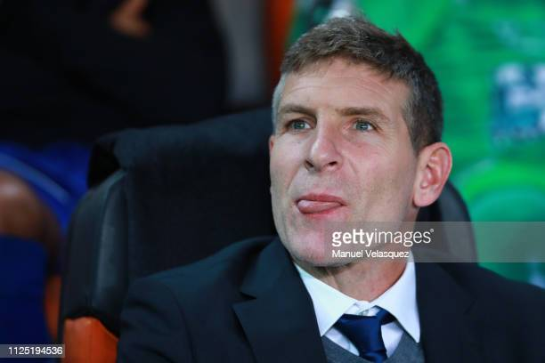 Martin Palermo coach of Pachuca gestures prior the 4th round match between Pachuca and Pumas UNAM as part of the Torneo Clausura 2019 Liga MX at...