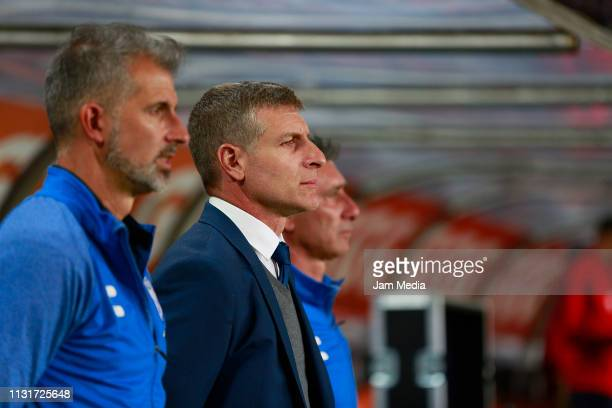 Martin Palermo coach of Pachuca looks on during the 8th round match between Pachuca and Chivas as part of the Torneo Clausura 2019 Liga MX at Hidalgo...