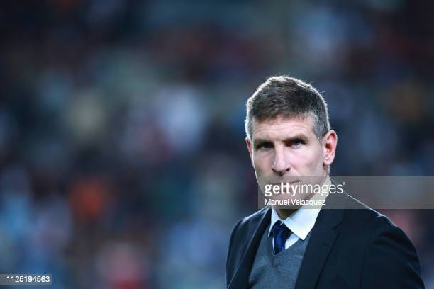 Martin Palermo coach of Pachuca looks on prior the 4th round match between Pachuca and Pumas UNAM as part of the Torneo Clausura 2019 Liga MX at...