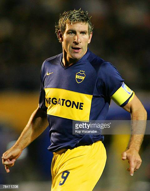 Martin Palermo of Boca Juniors waits for the ball during the FIFA Club World Cup semi final match between Boca Juniors and Etoile Sportive du Sahel...