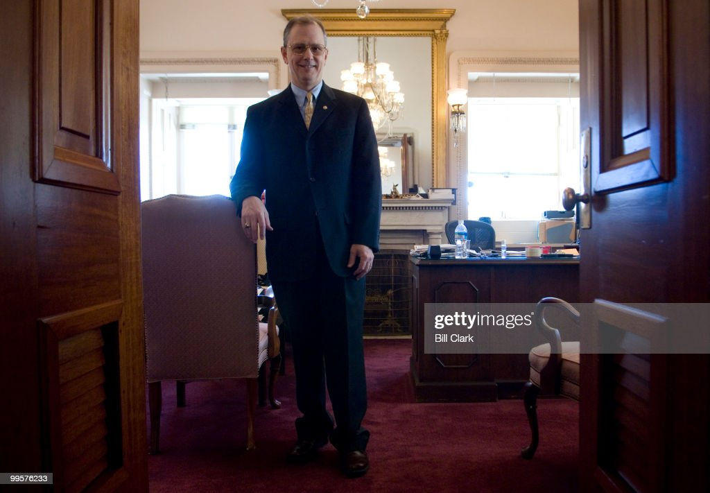Martin Paone, Secretary for the Majority United States Senate, poses in his office in the Capitol on Wednesday, Jan. 30, 2008.