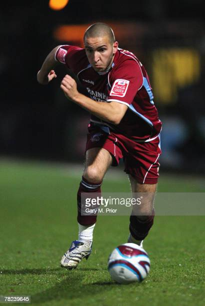 Martin Paterson of Scunthorpe United in action during the Coca Cola Championship match between Scunthorpe United and Blackpool at Glanford Park on...