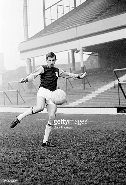 Martin Peters of West Ham United pictured at Upton Park in London circa January 1964