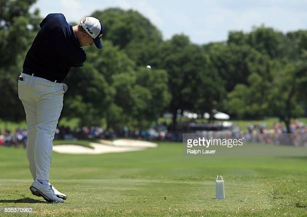 Martin Piller plays his shot from the ninth tee during the Final Round of the DEAN & DELUCA Invitational at Colonial Country Club on May 29, 2016 in...