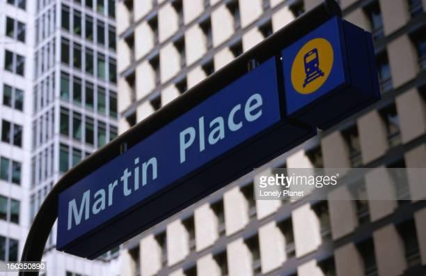Martin Place train subway sign.