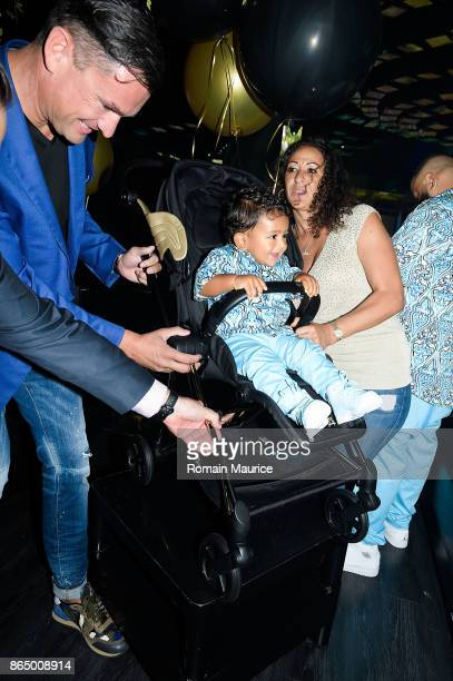 Martin Pos Asahd Khaled Nicole Tuck Tot Living By Haute Living Celebrates Asahd's First Birthday With Cybex on October 21 2017 in Miami Florida