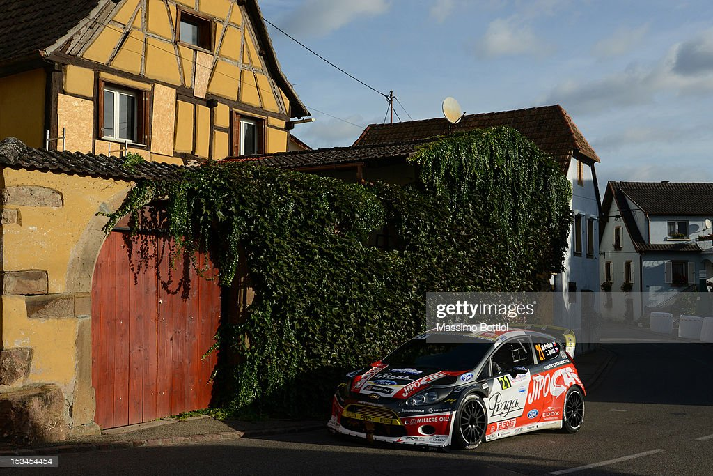 Martin Prokop of Czech Republich and Zdenek Hruza of Czech Republich compete in their Czech Ford National Team Ford Fiesta RS WRC during Day One of the WRC Rally of France on October 05, 2012 in Strasbourg, France.