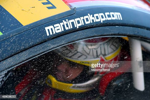 Martin Prokop of Czech Republich at the start of the special stage 'Clocaenog Main' during Day Two of the WRC Great Britain on November 15 2014 in...