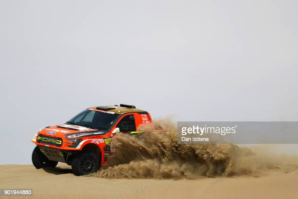Martin Prokop of the Czech Republic and Ford MPSports CZ drives with codriver Jan Tomanek of Czech Republic in the F150 Evo Ford car in the Classe...