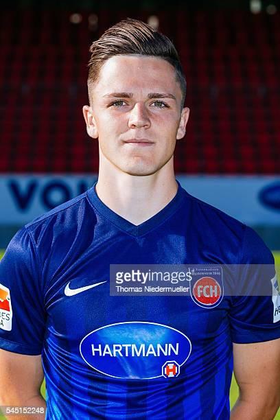 Martin Rasner poses during the 1FC Heidenheim team presentation at VoithArena on July 5 2016 in Heidenheim Germany