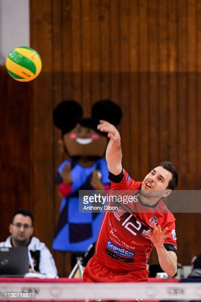 Martin Repak of Chaumont during the CEV Champions League match Chaumont 52 and SIR Safety Perugia on March 14 2019 in Reims France