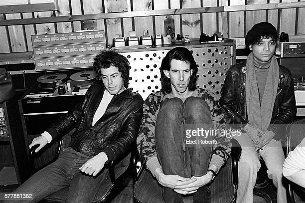 Martin Rev and Alan Vega of Suicide working with Ric Ocasek of The Cars on their second record at the Power Station in New York City on January 12,...