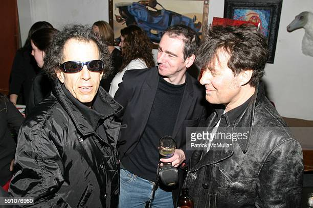 Martin Rev, ? and ? attend Reception for the Premiere of 'Punk: Attitude' at the Tribeca Film Festival at CBGB - 313 Gallery on April 25, 2005 in New...