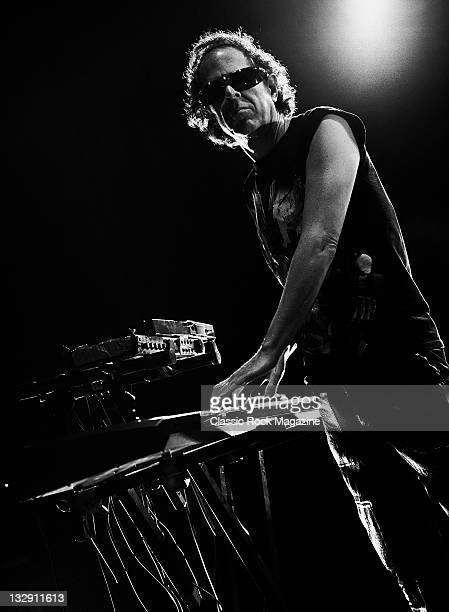 Martin Rev of American electronic protopunk band Suicide, live on stage at the Hammersmith Apollo, May 3 Hammersmith.
