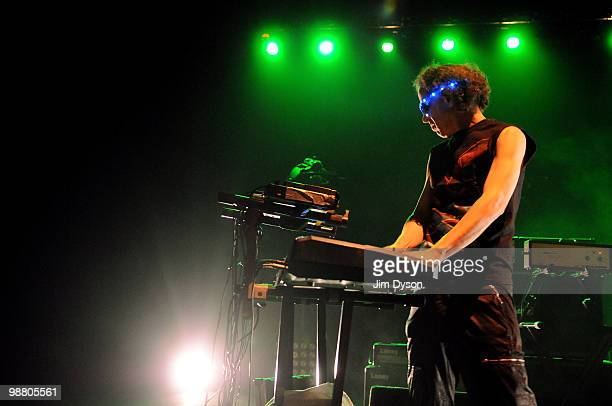 Martin Rev, of electro-punk duo Suicide, performs as support to Iggy Pop and The Stooges at Hammersmith Apollo on May 2, 2010 in London, England.