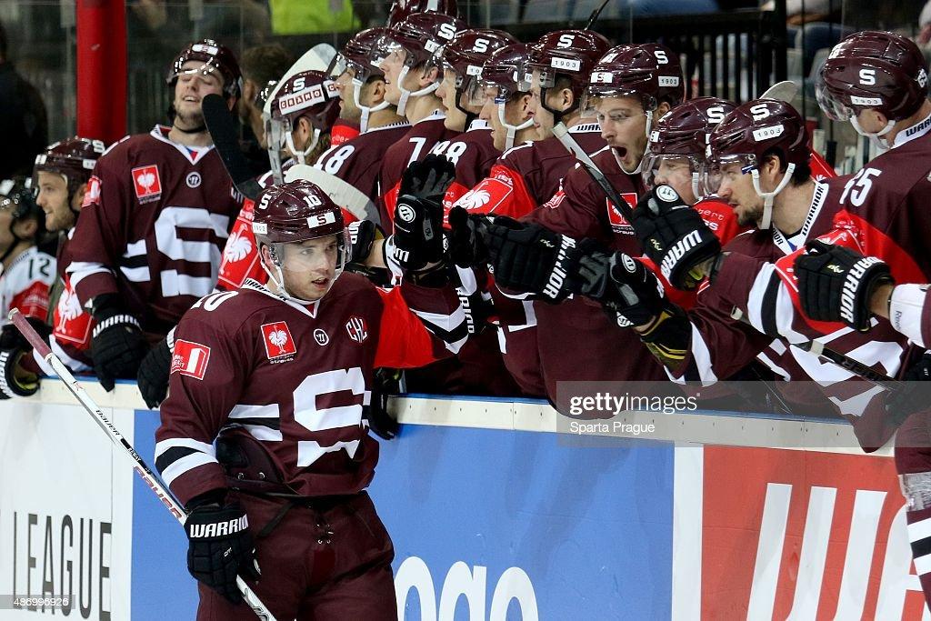 Sparta Prague v Geneve-Servette - Champions Hockey League : Fotografía de noticias