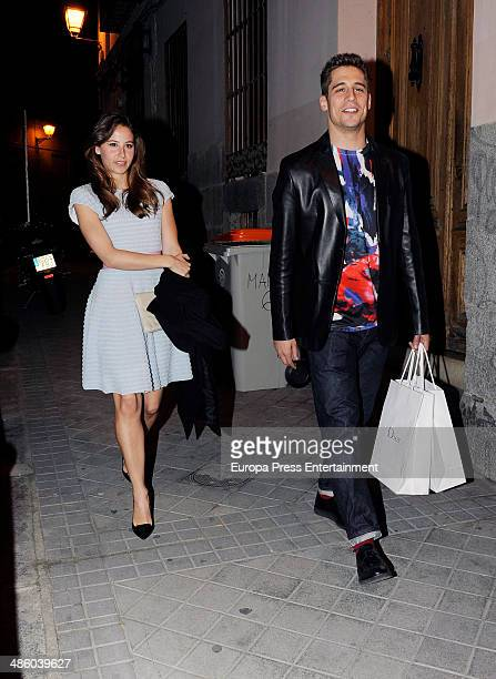 Martin Rivas and Irene Escolar leave 'Vamp' magazine party on March 18 2014 in Madrid Spain