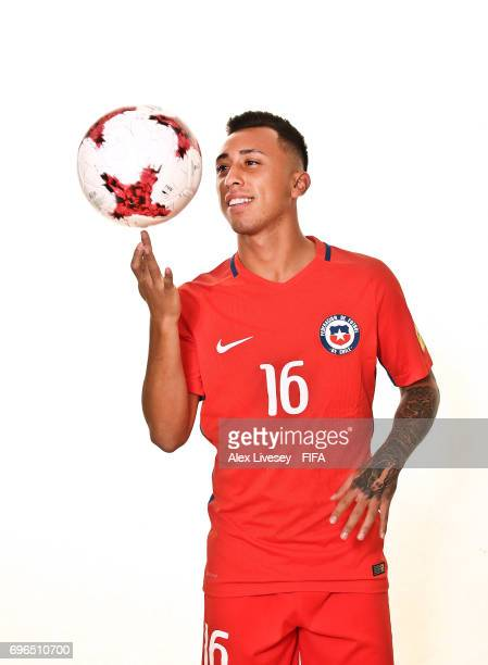 Martin Rodriguez of Chile during a portrait session ahead of the FIFA Confederations Cup Russia 2017 at the Crowne Plaza Hotel on June 15 2017 in...