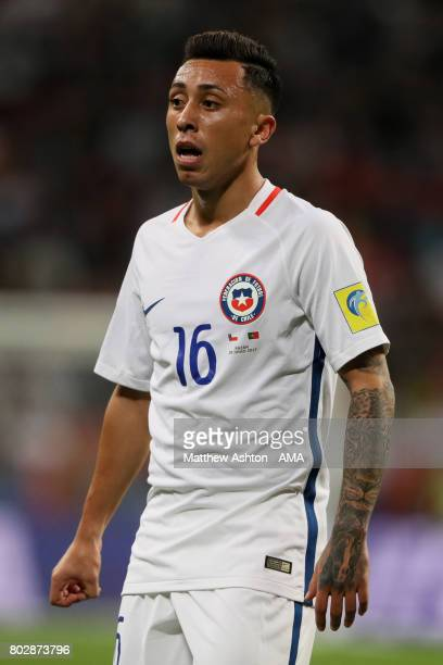 Martin Rodriguez of Chile looks on during the FIFA Confederations Cup Russia 2017 SemiFinal match between Portugal and Chile at Kazan Arena on June...