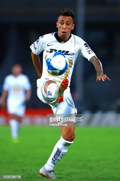 Martin Rodriguez of Pumas controls the ball during the 6th round match between Pumas UNAM and Queretaro as part of the Torneo Apertura 2018 Liga MX...