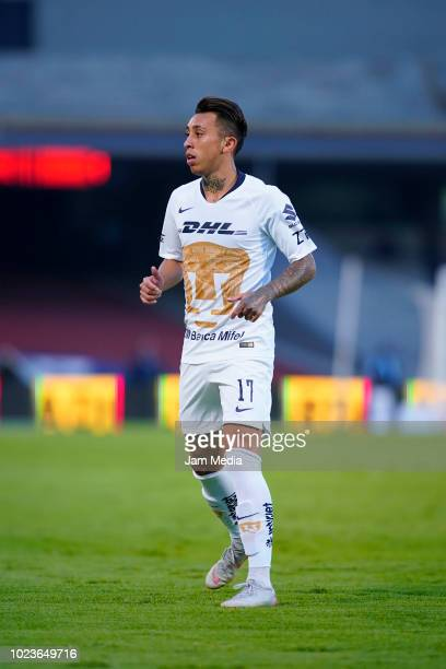 Martin Rodriguez of Pumas looks on during the 6th round match between Pumas UNAM and Queretaro as part of the Torneo Apertura 2018 Liga MX at...