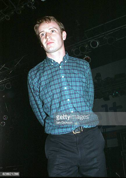 Martin Rossiter of Gene performing on stage at The Forum, Kentish Town, 1 November 1996.