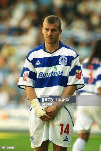 Martin Rowlands covers up during the CocaCola Championship match between Queens Park Rangers and Rotherham United at Loftus Road on August 7 2004 in...