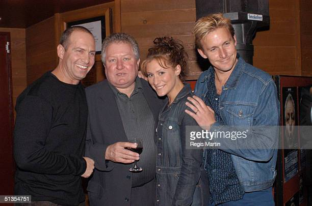 Martin Sacks John Wood Jane Allsop and Paul Bishop at the after party for the opening night of the play ' The Elocution Of Benjamin Franklin ' at the...