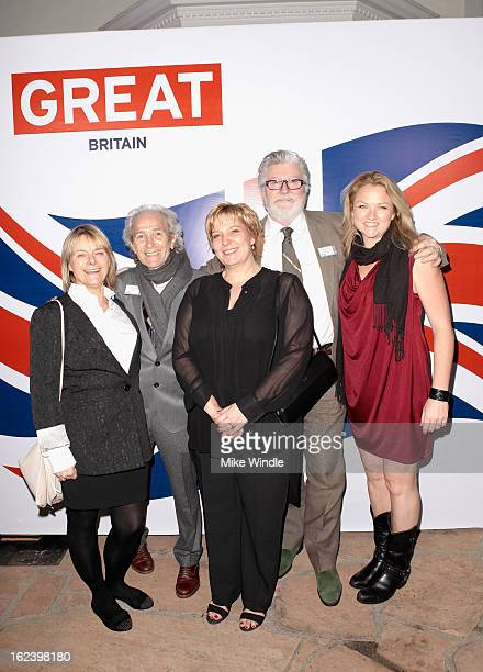 Martin Samuel Peter Swords King and guests attend the GREAT British Film Reception at British Consul General's Residence on February 22 2013 in Los...