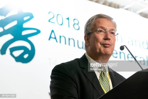 Martin Scheck chief executive officer of International Capital Market Association speaks during the Green and Social Bond Principles annual general...