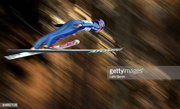 Martin Schmitt of Germany competes during day three of the FIS Ski Jumping World Cup at the Muehlenkopfschanze on February 8, 2009 in Willingen,...