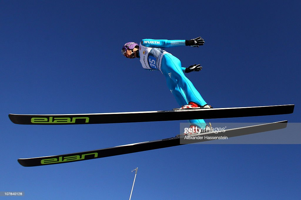 Martin Schmitt of Germany competes during the training round for the FIS Ski Jumping World Cup event at the 59th Four Hills ski jumping tournament at Olympiaschanze on January 1, 2011 in Garmisch-Partenkirchen, Germany.