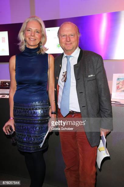 Martin Schoeller and his wife Eva Schoeller during the PIN Party 'Let's party 4 art' at Pinakothek der Moderne on November 18 2017 in Munich Germany