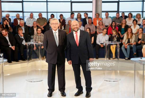 Martin Schulz a Social Democrat and President of the European Parliament and JeanClaude Juncker a member of the Christian Social People's Party and...
