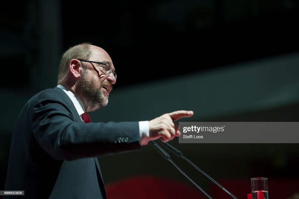 Martin Schulz Defines SPD Mission Ahead Of Federal Elections : News Photo