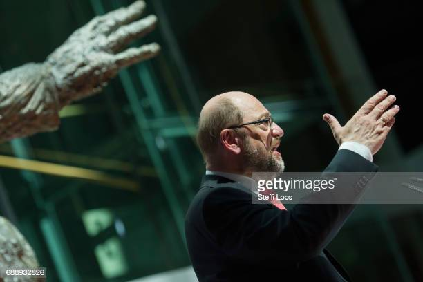 """Martin Schulz, chancellor candidate of the German Social Democrats holds a speech with the topic """"Fairness - Future - Europe. Mission to the SPD"""" on..."""