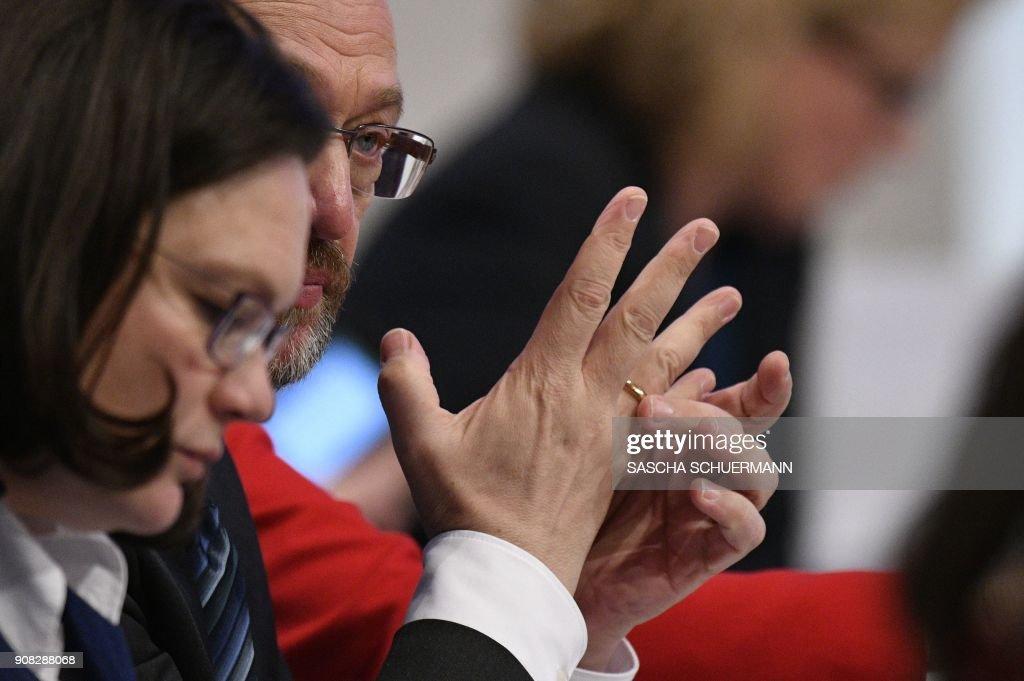 GERMANY-POLITICS-PARTIES-SPD : News Photo