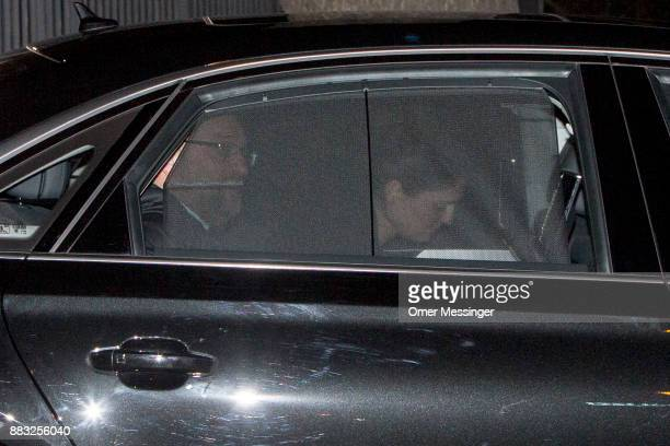 Martin Schulz leader of the German Social Democrats leaves after a meeting of the SPD the German Christian Democrats and the Bavarian Christian...