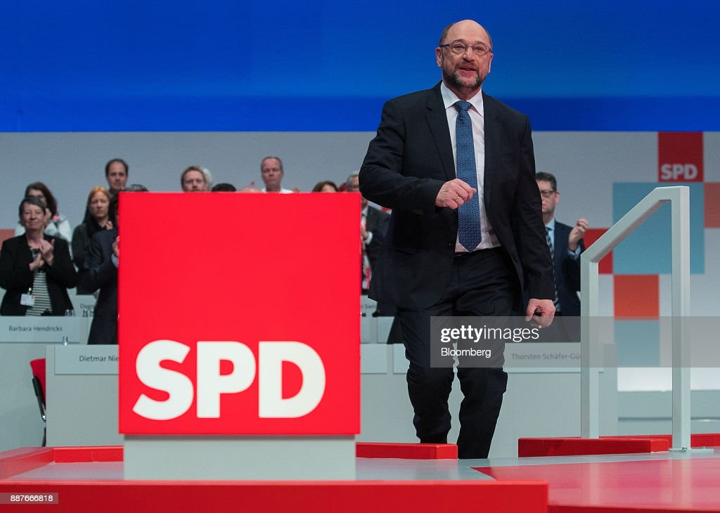 Germany's Social Democratic Party Hold Federal Party Convention As Renewed Coalition Alliance Faces Vote