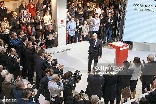 presentation of martin schulz as top candidate for 2017 federal
