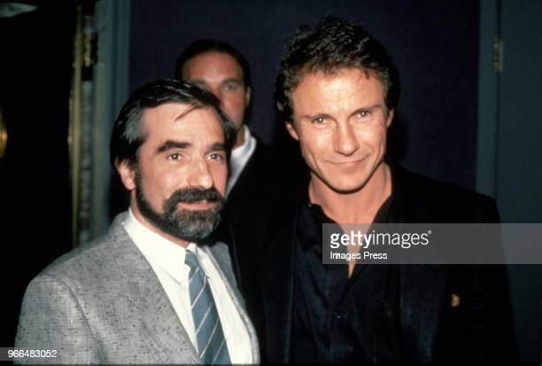 Martin Scorcese and Harvey Keitel circa 1984 in New York.