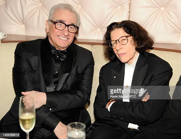 Martin Scorsese and Fran Leibowitz attends the 2012 Vanity Fair Oscar Party Hosted By Graydon Carter at Sunset Tower on February 26 2012 in West...