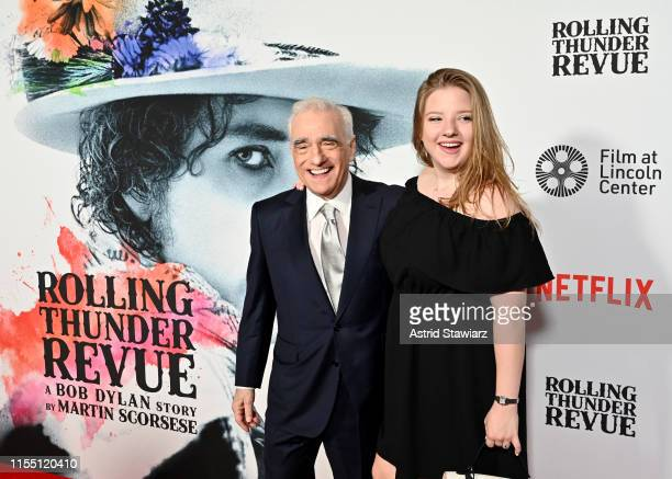 Martin Scorsese and Francesca Scorsese attend the world premiere of Netflix's ROLLING THUNDER REVUE A BOB DYLAN STORY BY MARTIN SCORSESE at Alice...