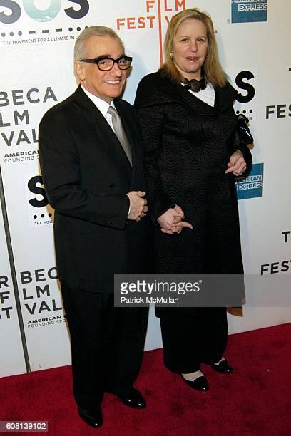 Martin Scorsese and Helen Morris attend Opening of Tribeca Film Festival SOS Short Film Program at BMCC Tribeca PAC on April 25 2007 in New York City