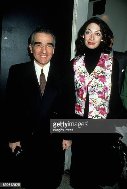 Martin Scorsese and Illeana Douglas circa 1994 in New York City