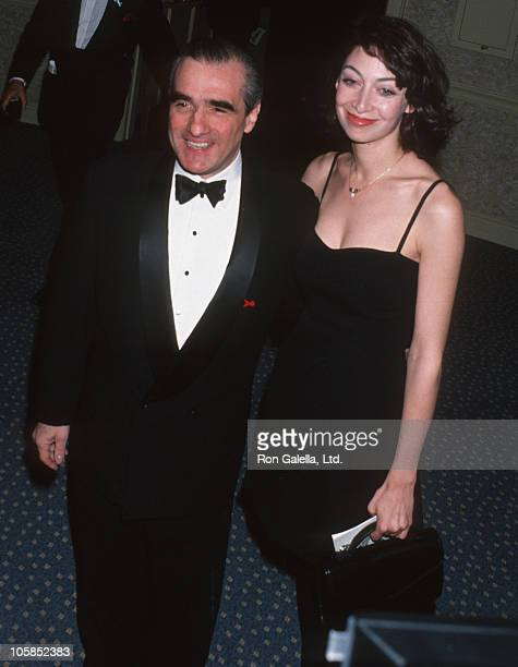Martin Scorsese and Illeana Douglas during Congress of Racial Equality Honors Martin Luther King at Sheraton New York Hotel in New York City New York...
