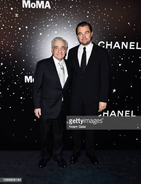 Martin Scorsese and Leonardo DiCaprio attend the 2018 Museum of Modern Art Film Benefit A Tribute To Martin Scorsese at Museum of Modern Art on...