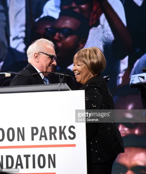 Martin Scorsese and Mavis Staples attend the 2017 Gordon Parks Foundation Awards Galaat Cipriani 42nd Street on June 6 2017 in New York City