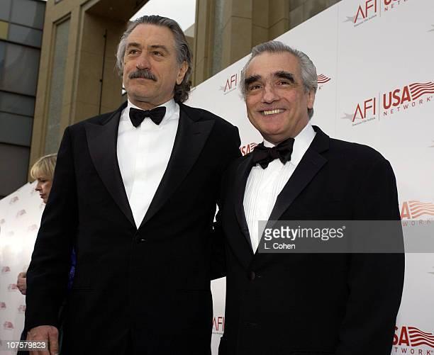 Martin Scorsese and Robert De Niro during 31st AFI Life Achievement Award Presented to Robert DeNiro Red Carpet by Lester Cohen at The Kodak Theater...
